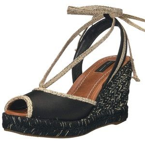 Marc Jacobs Sidney Wedge Espadrille Sandal Size 7